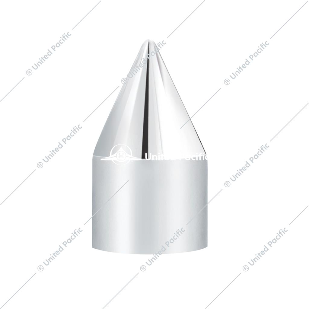 "5/8"" x 2"" Chrome Plastic Spike Nut Covers - Push-On (10 Pack)"