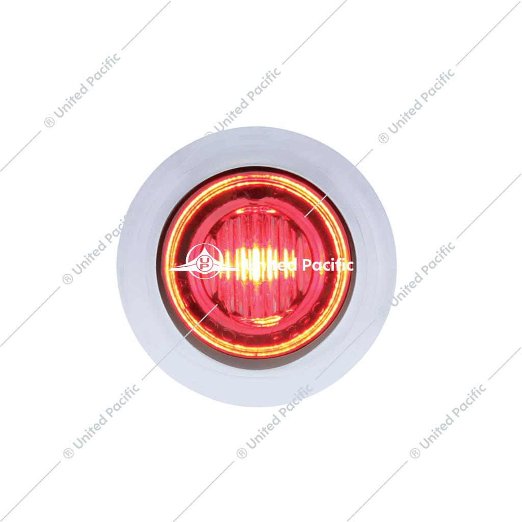 3 LED Double Fury Dual Color Mini Clearance/Marker Light - Red LED/Blue LED