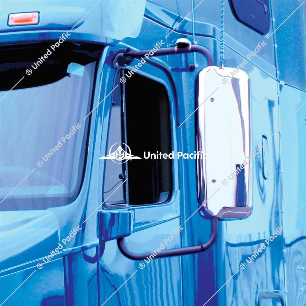 Chrome Mirror Cover For 2005-2010 Freightliner Century & 2005-2020 Columbia -Driver