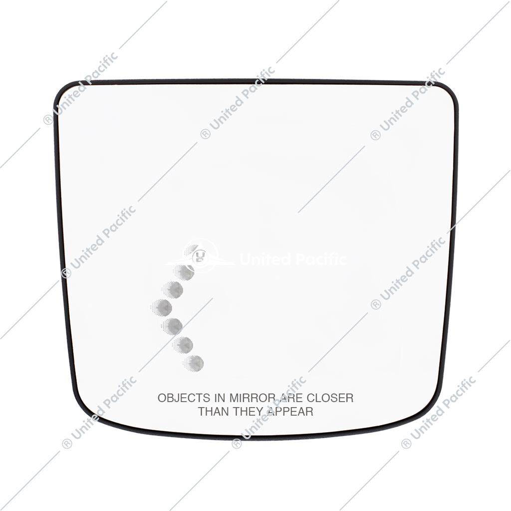 Heated Auxiliary Convex Mirror W/LED Turn Signal For 2012-2017 Volvo VNL -Driver
