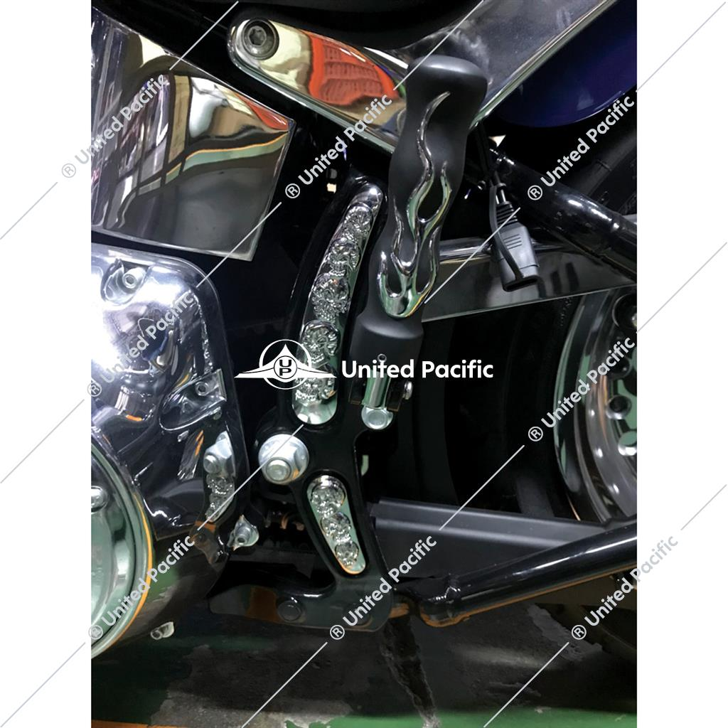Chrome Skull Swing Arm Accent Set For Harley