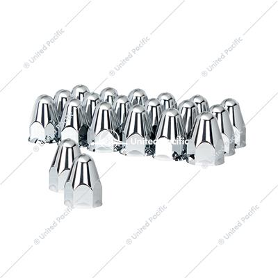 "1-1/2"" X 2-3/4"" Chrome Plastic Bullet Nut Cover - Push-On (Color Box of 20)"