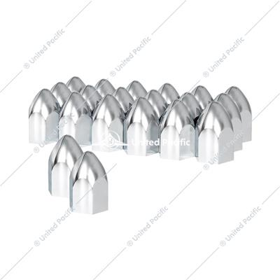 "1 1/2"" X 2 3/4"" Chrome Plastic Bullet Nut Cover - Push-On (20 Pack)"