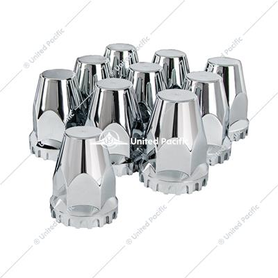 "33mm X 2 3/4"" Chrome Plastic Original Nut Cover - Thread-On (Box of 10)"