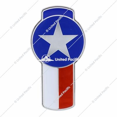 Chrome Die Cast Texas Flag Emblem