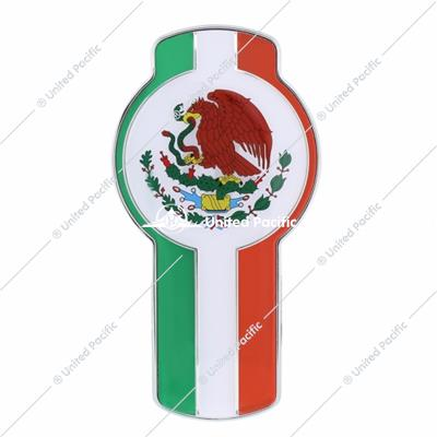 Chrome Die Cast Mexico Flag Emblem