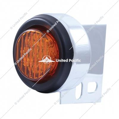 9 LED Mud Flap Hanger End Light w/ Grommet - Amber LED/Amber Lens