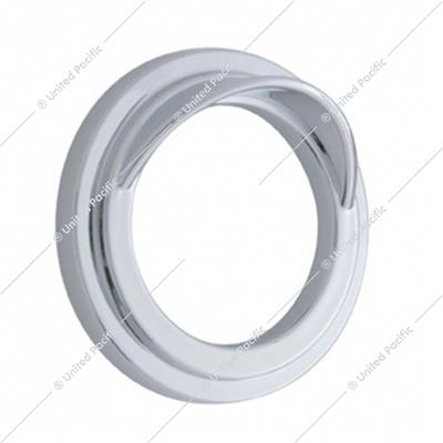 Chrome Plastic Small Gauge Cover With Visor For Freightliner