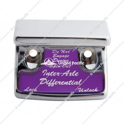 """Axle Differential"" Switch Guard - Purple Sticker"