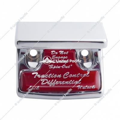 """Traction Control Differential"" Switch Guard w/ Red Sticker"
