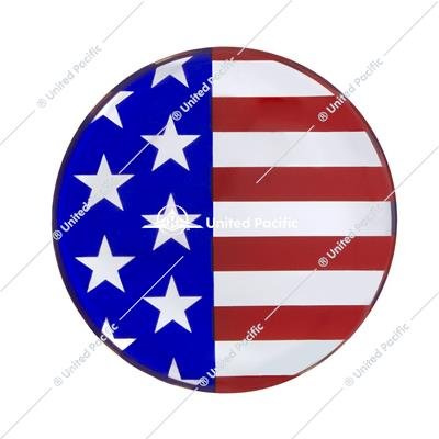 "1-3/4"" Round Glossy Sticker - USA Flag"