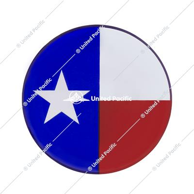 "1-3/4"" Round Glossy Sticker - Texas Flag"