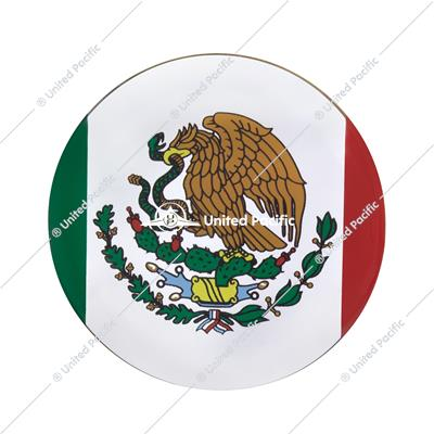 "1-3/4"" Round Glossy Sticker - Mexico Flag"