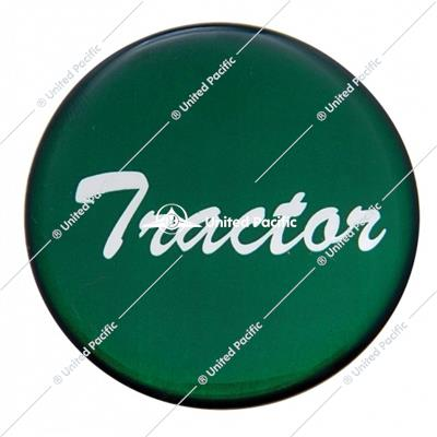 """Tractor"" Glossy Air Valve Knob Sticker Only - Green"