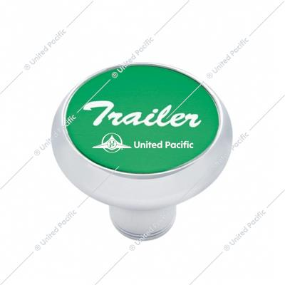 """Trailer"" Deluxe Air Valve Knob - Green Aluminum Sticker"