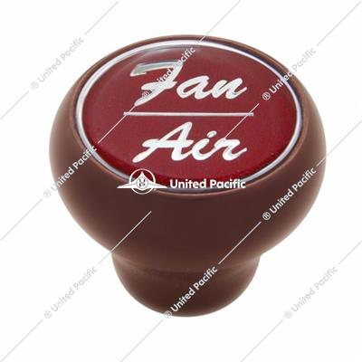 """Fan/Air"" Wood Deluxe Dash Knob - Red Glossy Sticker"