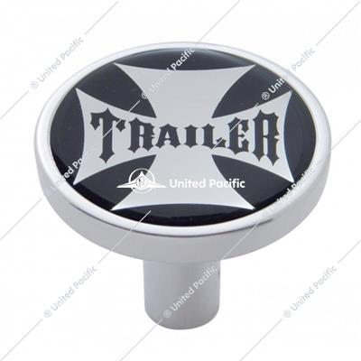 """Trailer"" Long Air Valve Knob - Black Maltese Cross Sticker"