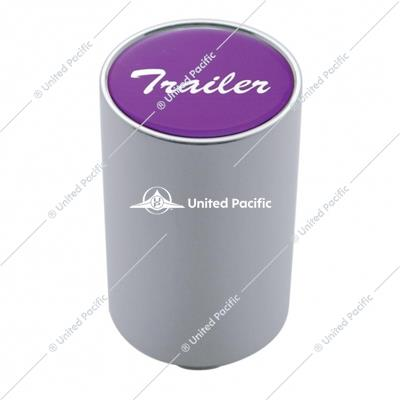 """Trailer"" 3"" Air Valve Knob - Purple Aluminum Sticker"