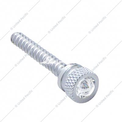 Chrome Long Dash Screw With Clear Diamond For Freightliner (2 Pack)
