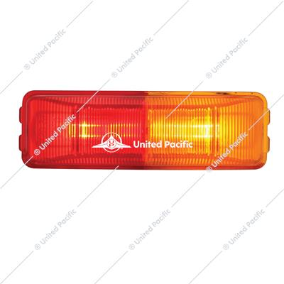 Incandescent Rectangular Fender Mount Clearance/Marker Light - Amber & Red Lens
