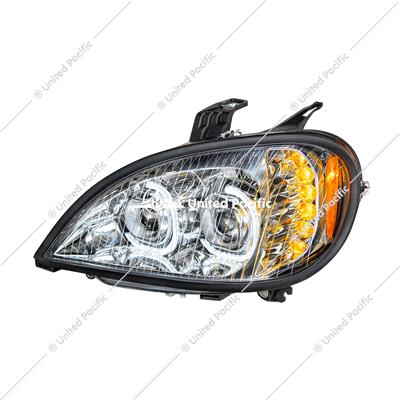 High Power LED Chrome Projection Headlight For 2001-2020 Freightliner Columbia -Driver