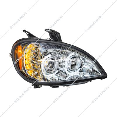 High Power LED Chrome Projection Headlight For 2001-2020 Freightliner Columbia -Passenger