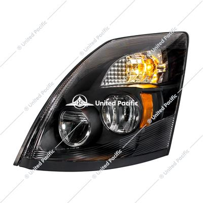 "High Power LED ""Blackout"" Headlight for 2003-2017 Volvo VN/VNL -Driver"
