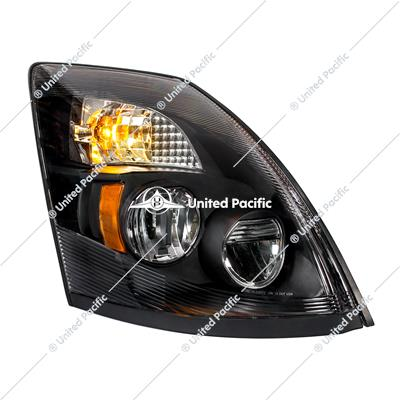 "High Power LED ""Blackout"" Headlight for 2003-2017 Volvo VN/VNL -Passenger"