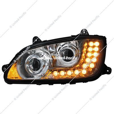 Chrome Projection Headlight Assembly For 2008-2017 Kenworth T660-Driver