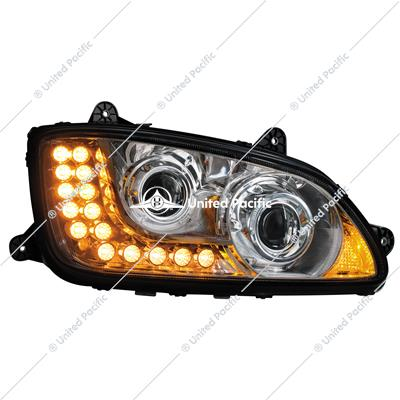 Chrome Projection Headlight Assembly For 2008-2017 Kenworth T660-Passenger