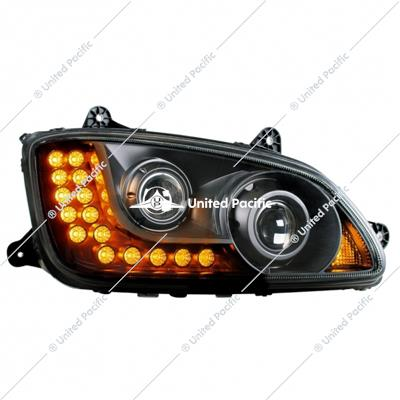 """Blackout"" Projection Headlight Assembly For 2008-2017 Kenworth T660 -Passenger"