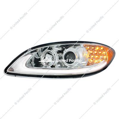 Chrome Projection Headlight With LED Turn Signal For International Prostar -Driver