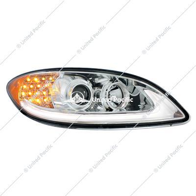 Chrome Projection Headlight With LED Turn Signal For International Prostar -Passenger