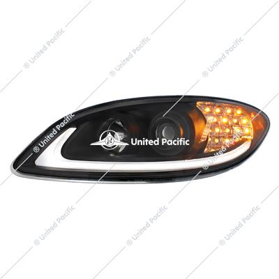 Black Projection Headlight With LED Turn Signal For International Prostar -Driver