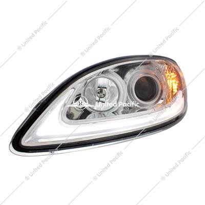 Chrome Projection Headlight With LED Light Bar For International Prostar -Driver
