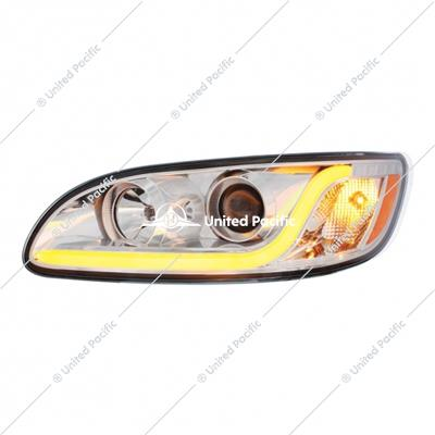 Projection Headlight W/ LED Dual Function Light Bar For 2005-2015 PB 386 & 1999-2010 387 -Driver