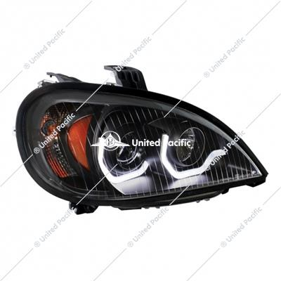 """Blackout"" Projection Headlight W/ LED Position Light For 2001-2020 Freightliner Columbia -Passenger"