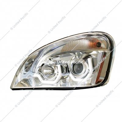 Chrome Projection Headlight W/ LED Position Light For 2008-2017 Freightliner Cascadia -Driver