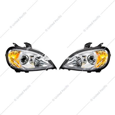 Projection Headlight Assembly Set For 2001-2020 Freightliner Columbia (Pair)