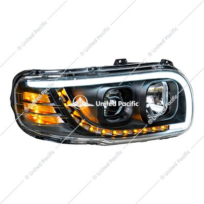 """Blackout"" Projection Headlight W/LED Turn & Position Light For 2008-15 PB 388 & 2008-2021 389 -Passenger"