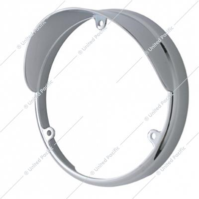 Chrome Plastic Bezel For Unted Pacific Double Face LED Lights With Visor