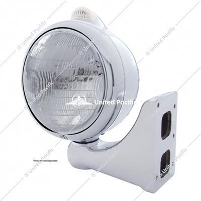Stainless Steel Guide 682-C Headlight 6014 & Dual Mode LED Signal - Clear Lens
