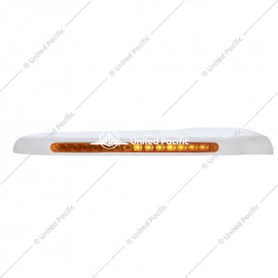 Sequential 14 Amber LED Front Fender Cover For 2008-15 PB 388 & 2008-2021 389 -Amber Lens -Passenger