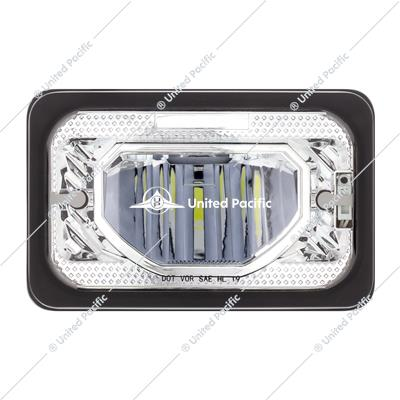 "4"" X 6"" Heated LED Headlight Low Beam - Chrome"