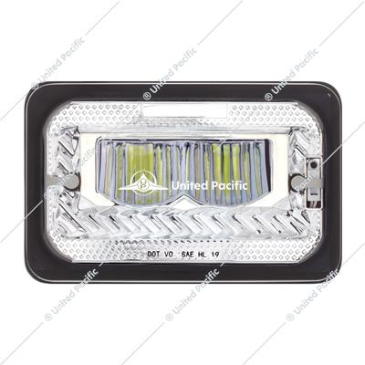 "4"" X 6"" Heated LED Headlight High Beam - Chrome"