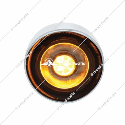 PB SS Front Air Cleaner Bracket w/22X 3 Amber LED Mini Lights & Visors -Clear Lens