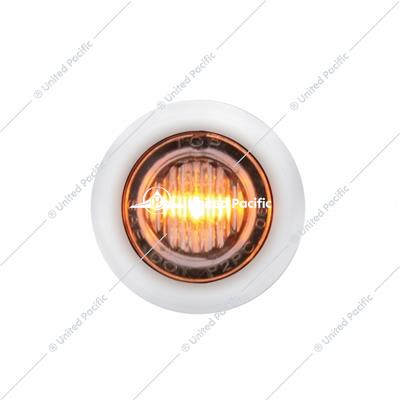 PB SS Front Air Cleaner Bracket w/26X 3 LED Mini Lights & SS Bezels -Amber LED/Clear Lens