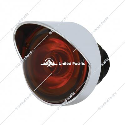 PB SS Front Air Cleaner Bracket w/26X 3 LED Mini Lights & Visors -Amber LED & Lens