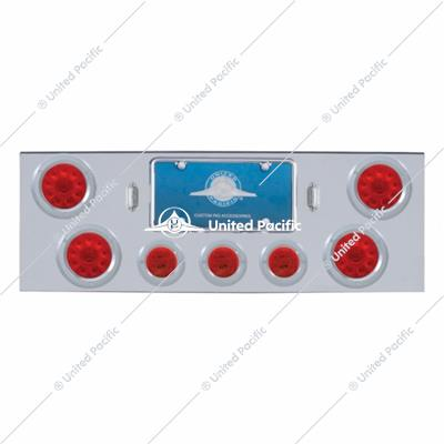 "CR Rear Center Panel w/4X 10 LED 4"" Lights & 3X 13 LED 2-1/2"" Lights & Bezel -Red LED & Lens"