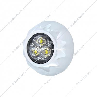 3 High Power LED Mini Warning Light - White LED